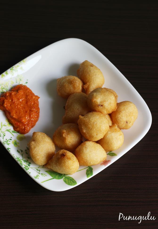 punugulu recipe, punuglu with maida