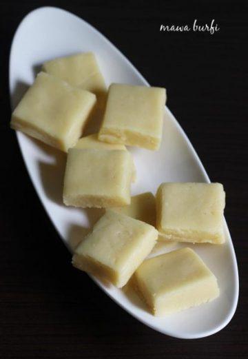 Mawa barfi recipe | How to make barfi using mawa or khoya