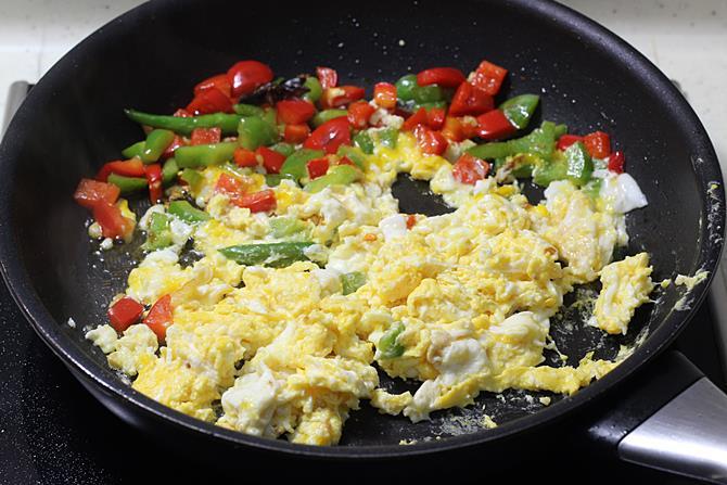 scrambling egg noodles recipe
