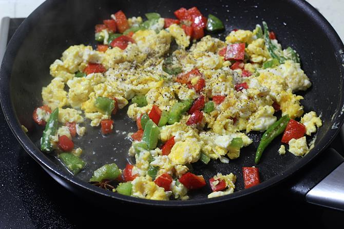 addition of spice powders vinegar for egg noodles