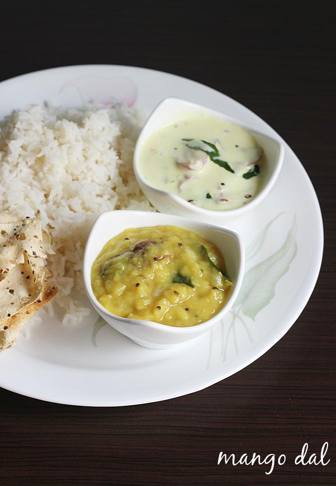 mamidikaya pappu recipe, mango dal recipe