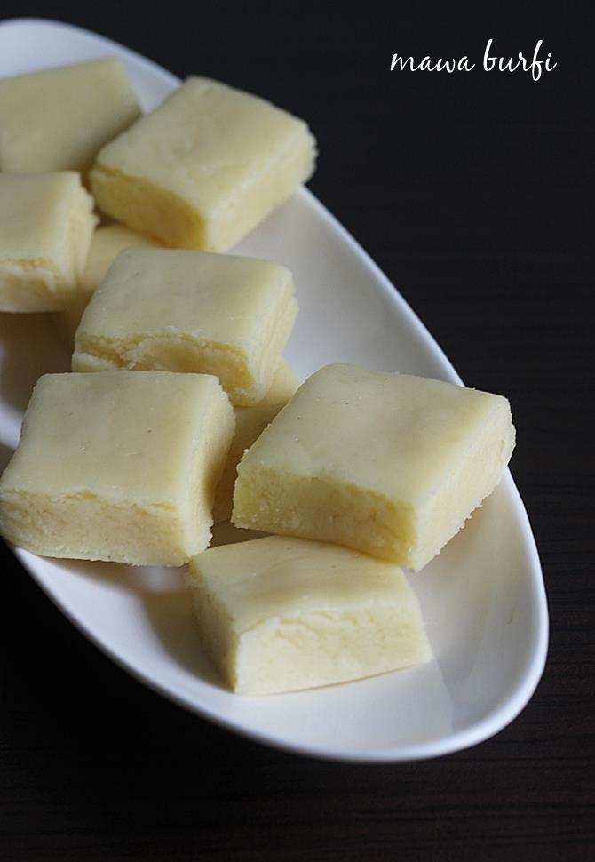 Indian milk dessert - mawa barfi recipe