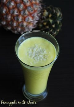 pineapple milkshake recipe, how to make pineapple milkshake