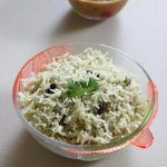 pudina rice recipe, how to make pudina rice or pudina pulao
