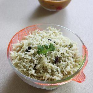 Pudina rice recipe | How to make pudina rice or pudina pulao