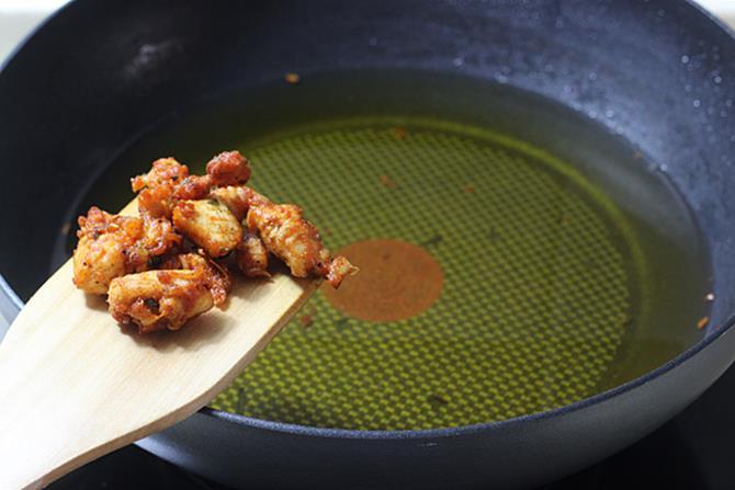 golden fried street style chicken 65 recipe step 4