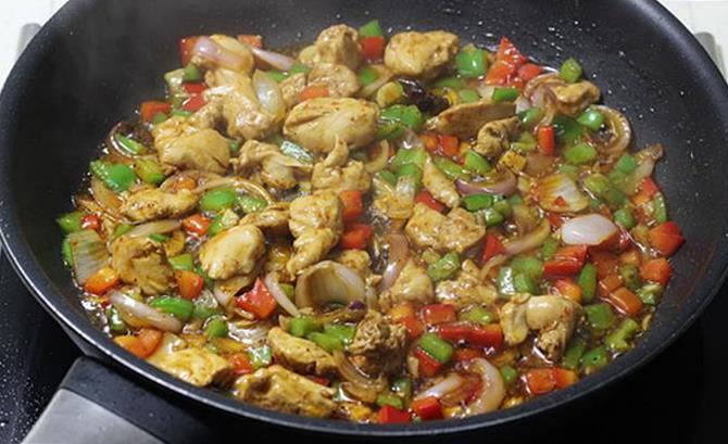 Chicken fried rice recipe how to make chicken fried rice recipe addition of capsicum for chicken fried rice recipe ccuart Images
