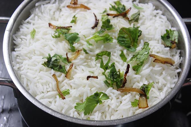 layer rice for dum to make kalan biryani recipe
