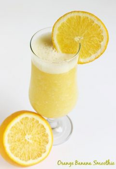 orange banana smoothie | healthy smoothie recipes