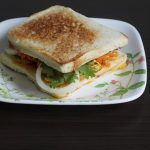 egg bhurji sandwich recipe, how to make egg bhurji sandwich | egg sandwich
