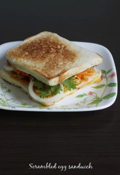 Egg bhurji sandwich recipe | How to make egg sandwich