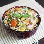 sprouted moong salad recipe | moong sprouts salad recipe
