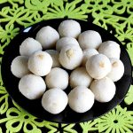 coconut ladoo recipe, how to make coconut ladoo (laddu)