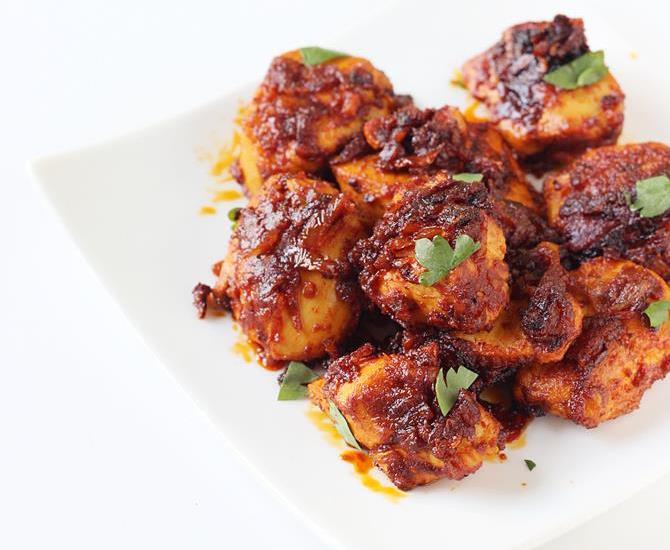 quick indo chinese dry chicken recipes -schezwan chicken