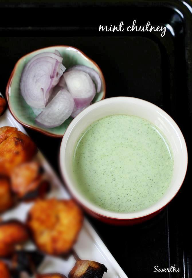mint raita for kabab