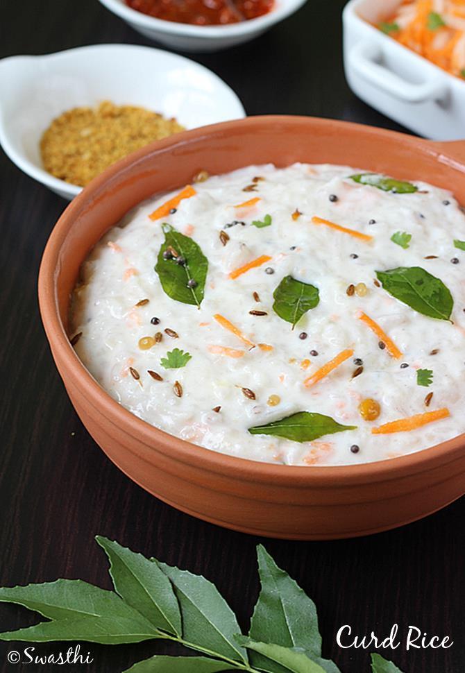 Curd rice recipe | How to make curd rice recipe (yogurt ...