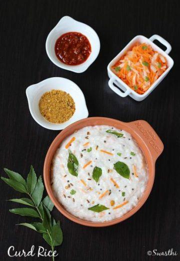 Curd rice recipe   How to make curd rice (yogurt rice)   Thayir sadam