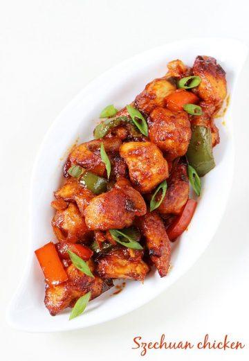 Schezwan chicken recipe | Szechuan chicken recipe in Indo chinese style