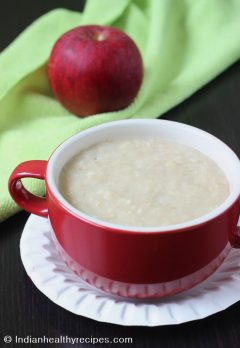 Apple oats porridge for babies | oats baby food recipes