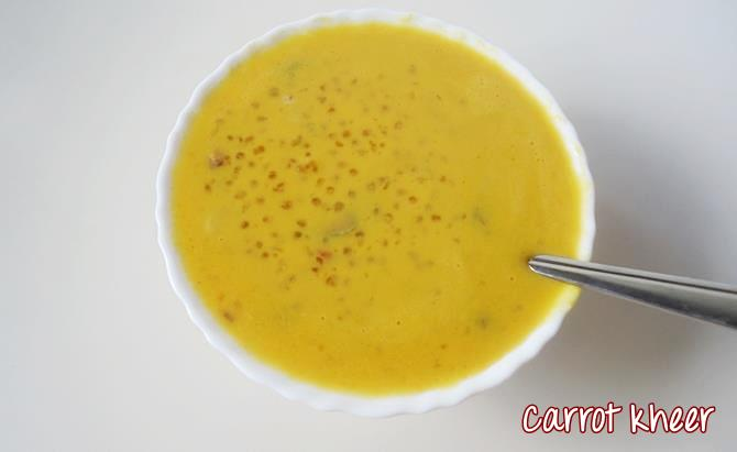 carrot payasam carrot kheer recipe