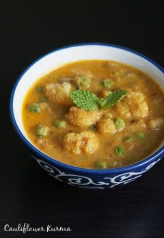 Cauliflower kurma recipe | cauliflower gravy curry recipe