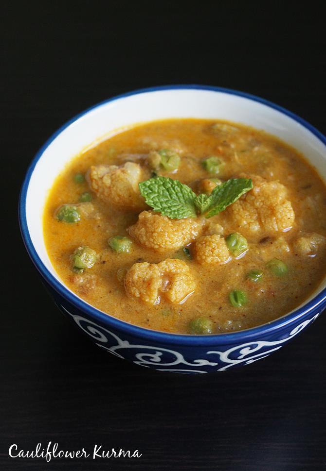 Cauliflower kurma recipe cauliflower gravy curry recipe cauliflower kurma recipe forumfinder Images