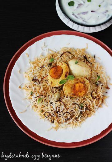 Hyderabadi egg biryani recipe | egg dum biryani | anda biryani