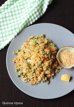 Quinoa upma recipe | How to make vegetable quinoa upma