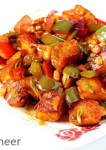 Chilli paneer recipe   How to make chilli paneer dry & gravy recipe
