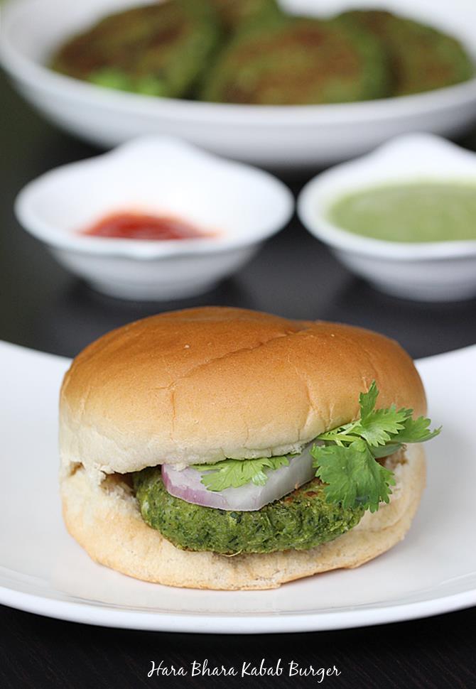 hara bhara kabab burger