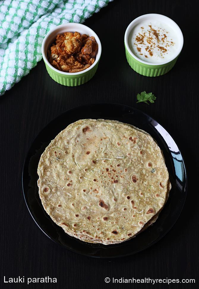 lauki paratha swasthis recipes