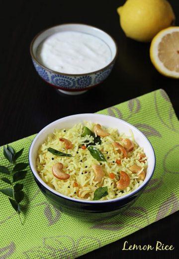Lemon rice recipe video   How to make south indian lemon rice recipe
