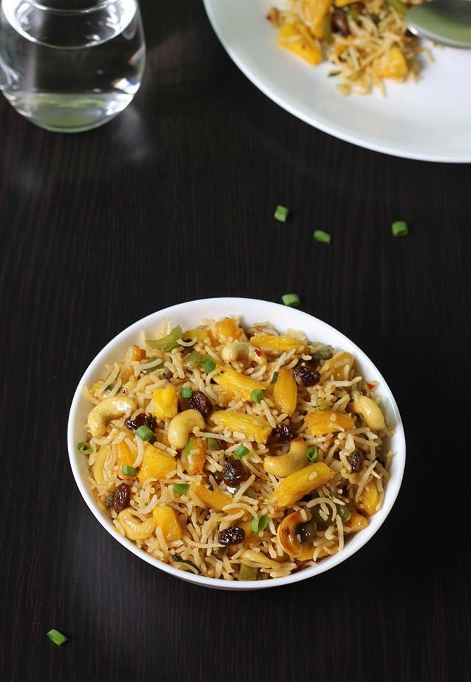veg pineapple fried rice recipe