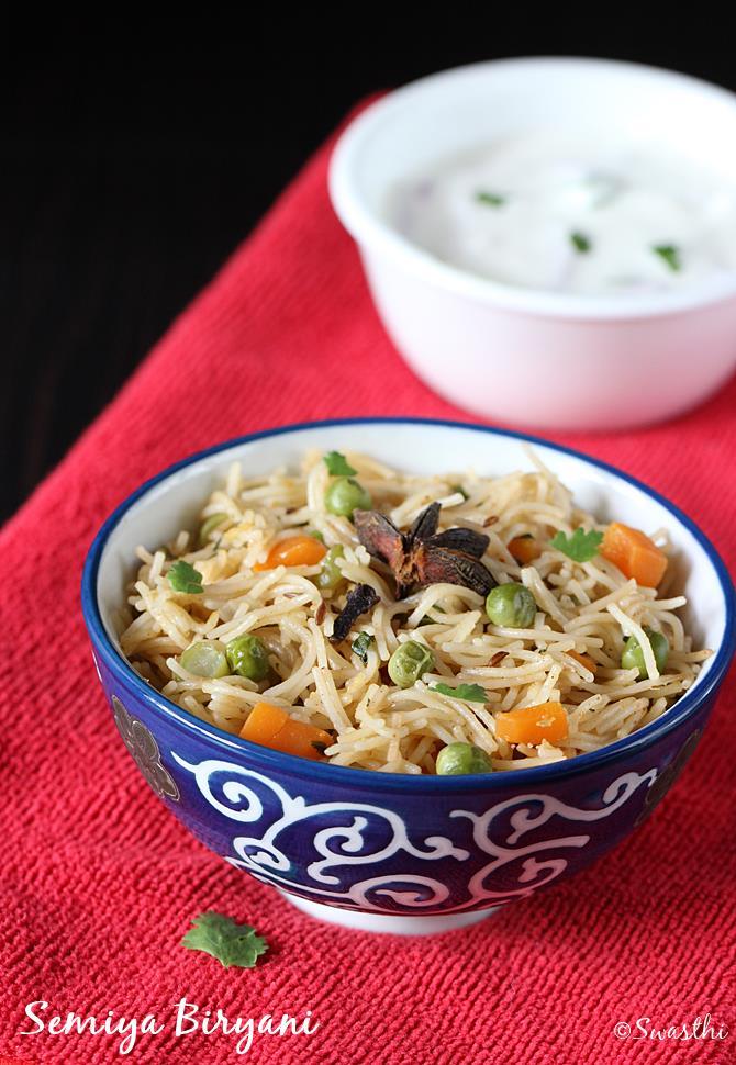 semiya biryani recipe swasthis recipes