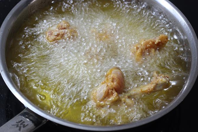 frying drummettes for chicken lollipop recipe