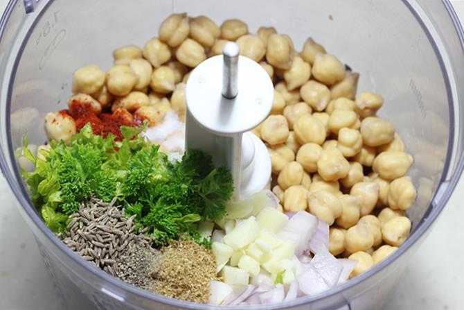 blending all ingredients