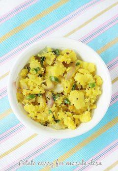 Potato curry recipe for masala dosa | Potato masala recipe for dosa