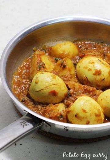 aloo egg curry - potato egg curry recipe