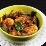 prawns fry recipe, how to make prawn fry (royyala vepudu)
