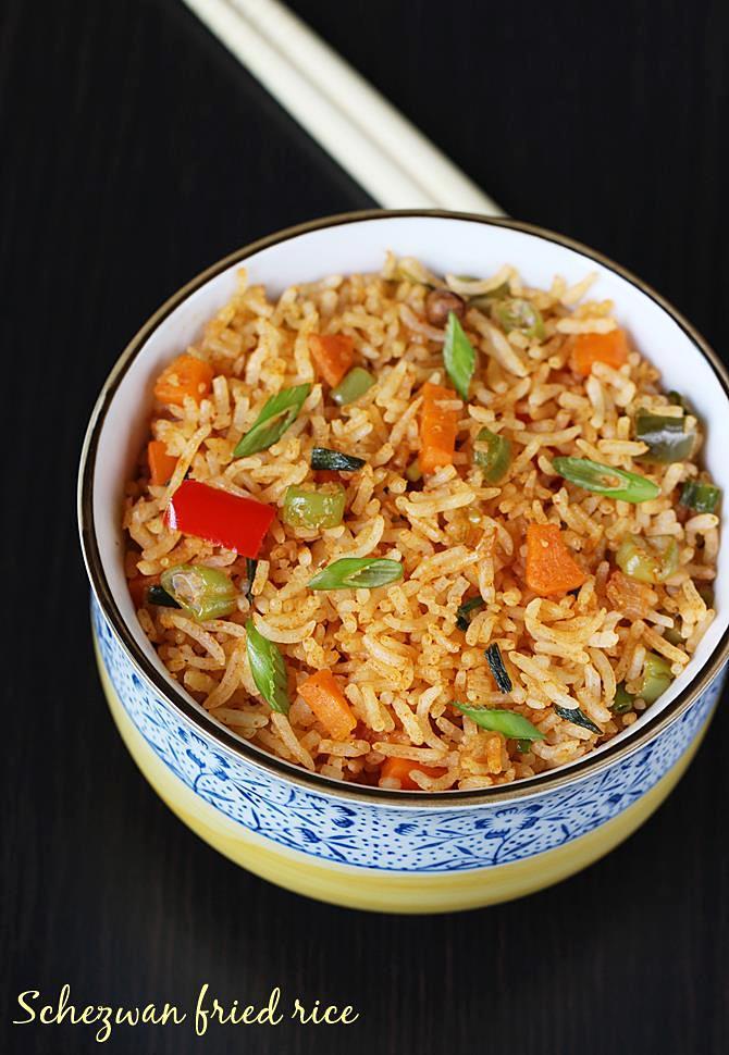 schezwan fried rice recipe veg