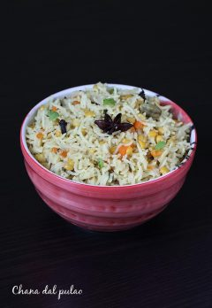 Chana dal pulao recipe | Chana dal rice recipe