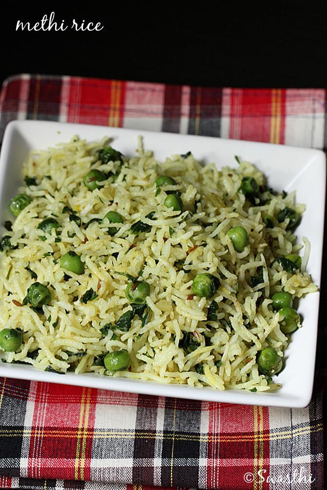 easy methi rice pulao