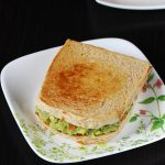 Guacamole sandwich recipe | How to make guacamole sandwich