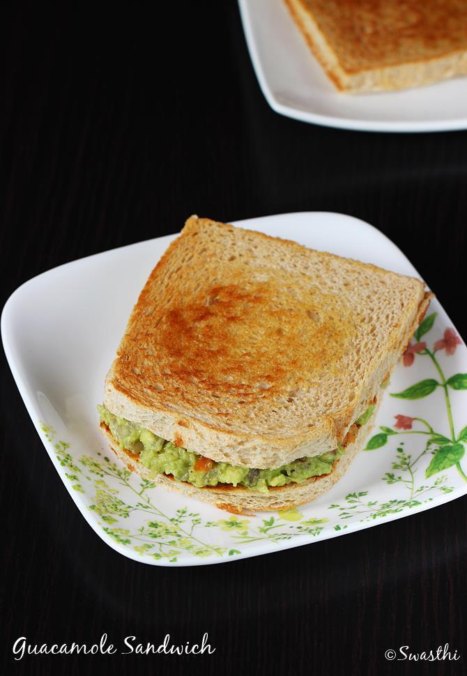 guacamole sandwich recipe swasthis recipes