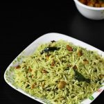 lemon pudina rice | lemon mint rice recipe