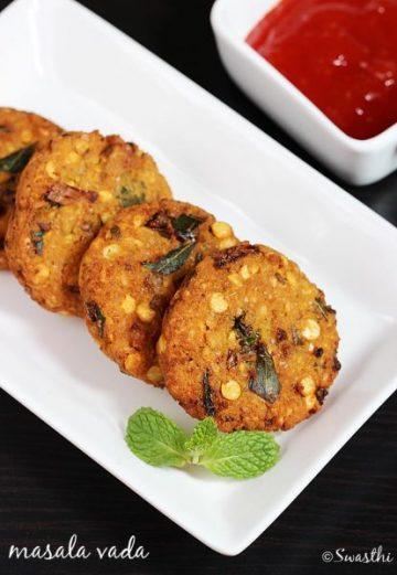 Masala vada recipe   South indian chana dal vada recipe