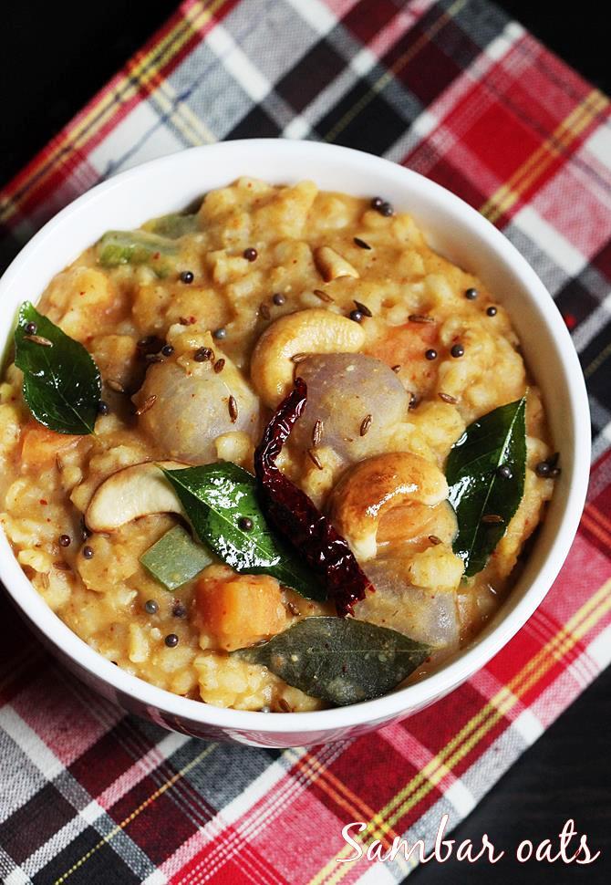 sambar oats recipe Swasthis recipes