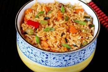 Schezwan fried rice recipe | How to make schezwan fried rice