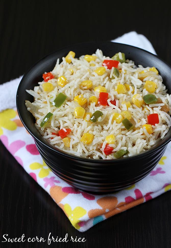 Sweet corn fried rice sweet corn rice recipe sweet corn recipes sweet corn fried rice recipe ccuart Gallery