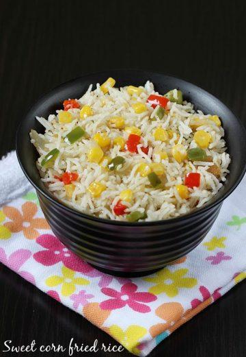 Sweet corn fried rice   Sweet corn rice recipe   Sweet corn recipes